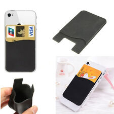 Silicone Smart Wallet Credit Card Cash Stick Adhesive Holder Case For CellPhone
