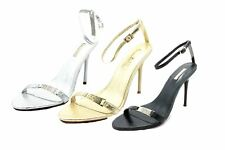 Ladies minimalistic stiletto sandals / evening shoes with ankle strap
