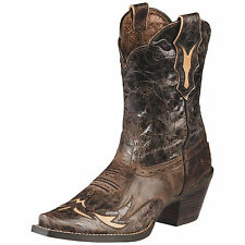 Women's Ariat Dahlia 10008780 Silly Brown Chocolate Floral Leather Cowboy Boot's