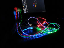 USB Cable Glow LED Light Micro Charger Data Sync Cord for Android Smart Phone PC