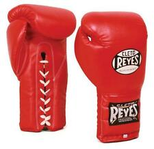 NEW Cleto Reyes Sparring Boxing Gloves Lace up Leather Red Mexican Made Pro