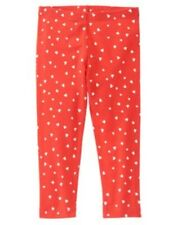 GYMBOREE VALENTINES DAY RED w/ WHITE HEARTS A/O LEGGINGS 6 12 18 24 NWT