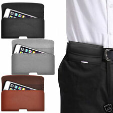 Horizontal PU Leather Pouch Belt Clip Case For BlackBerry Curve 8900