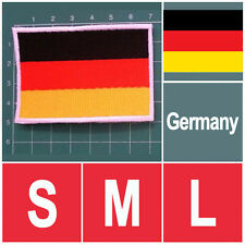 GERMAN GERMANY NATIONAL FLAG FLAG SEW ON PATCH IRON ON PATCH EMBROIDERED SMALL M