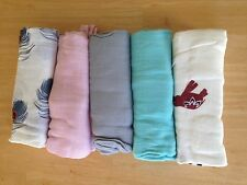 "Aden and Anais Bamboo Swaddle Blanket Boutique 47"" x 47"" Many Patterns NEW"