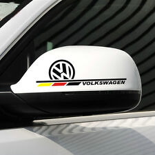 1 pair car styling vinyl auto rear view mirror car stickers decal emblem for VW