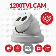 CCTV Camera 1200TVL 1000TVL 800TVL Metal Dome 3.6mm Waterproof White Camera