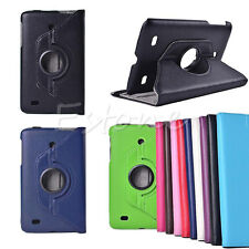 """360 Rotating Folio Faux Leather Case Cover Stand for LG G Pad 7"""" 8"""" 8.3"""" Tablet"""