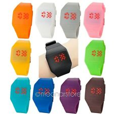 Ultra-Thin Mens Womens Boys Girls Touch Screen LED Silicone Sport Wrist Watches