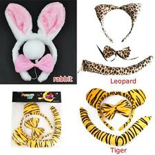 Cat Fancy Dress Set , Animal Ears with Tail and Bow/ Adult /Childrens Party Xmas