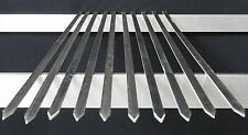 10,15,20 x Flat Stainless Steel Adana Chicken Lamb Shish Kebab Charcoal Skewers