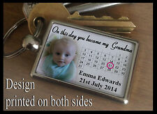 Metal keyring key fob, Personalised gift, on this day you became my Grandma.