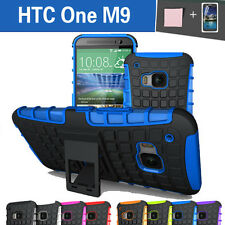 TPU Case Cover For New HTC One M9 Silicone Shockproof Heavy Duty With Kickstand