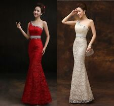 New One-Shoulder Lace Formal Evening Dress Long Mermaid Party Dress Prom Gown