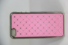 iPhone 5 Aluminum Chrome Spot Diamond Case Protector & Free Screen Protector