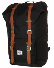 Herschel Supply Co LITTLE AMERICA BLACK Herschel Backpack Bag New FREE POST