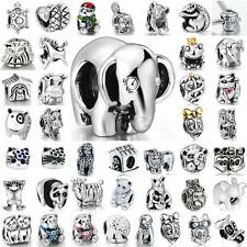 CA Cute Animal Beads Fit European Charms 925 Sterling Silver Bracelet Chains 3mm