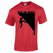 Head for Heights Rock Climbing Bouldering Altitude Mountaineering Mens T Shirt