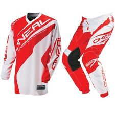 Oneal Mx NEW 2016 Element Red White Jersey Pants Motocross Dirt Bike Gear Set