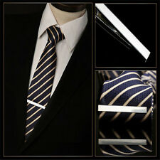 New Fashion Men Metal Necktie Tie Bar Clasp Clip Clamp Silver Tone Formal Shirts