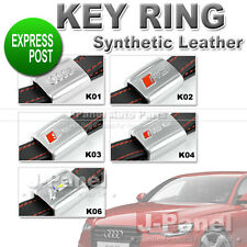 SYNTHETIC LEATHER ALLOY METAL KEY RING FOB HOLDER KEYCHAIN for AUDI CAR INTERIOR