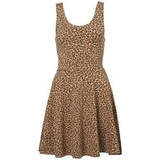 Topshop Leopard Print Short Jersey Tunic Skater Dress BNWT UK 8 US 4 RRP £26