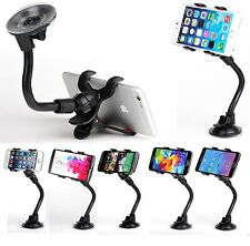 Universal Car Windshield Dash Suction Cup Mount Phone Black Holder 360° Rotating