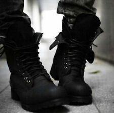 Retro England-style Combat boots fashionable Men's short Winter shoes 2 Colors