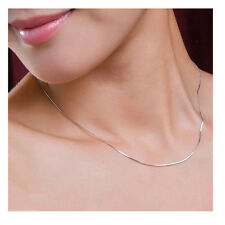 "New Fashion 925 Silver Plated Lovely Snake Chain Necklace 2MM 16""-24"" Jewelry"