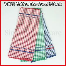 Cotton Kitchen Tea Towels Dish Cloths Towel Teatowels Teatowel New Linen 3 Pack