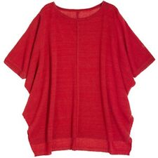 $495 NEW Calypso St. Barth RED Sparkle Cashmere Lurex Top Sweater Size 0 1 S M L