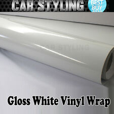 Hot Sell!!Glossy Gloss White Vinyl Wrap Film Sheet Car Sticker Decal Air Release