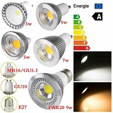 3W 5W 7W 9W LED PAR20 E27/E26 GU10 COB MR16/GU5.3 Spotlight Down Light Lamp Bulb