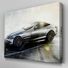 Cars226 Mercedes SLS AMG Clouds Sun Canvas Art Ready to Hang Picture Print