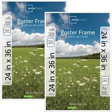 24x36 Basic Poster Frame Set of 2 Frames Picture Contemporary Black White NEW