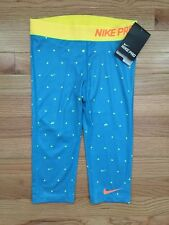 Nike Girls Dri Fit Pro Compression All Over Graphic Capris   Save 30%!!  Large