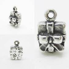 Christmas Present 925 Sterling Silver Pendant Clip on European Charm Necklace