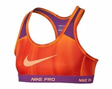 Nike GIRL'S Pro Allover Print Dri Fit Hypercool Sports Bra  Large