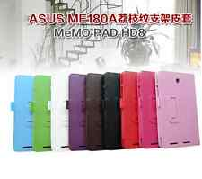 "Folio Leather Stand Case Cover For Asus Memo Pad 8 HD8 ME180 ME180A 8"" Tablet"
