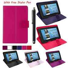 "Universal Leather Stand Folding Folio Case Cover Pouch For All 7"" Inch Tablets"