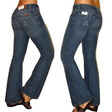 $189 Seven 7 For All Mankind A-Pocket Flip Flop Petite Inseam Flare Jeans 27 28