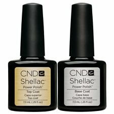 CND Shellac UV Nail Power Polish Base coat & Top Coat Free UK Delivery