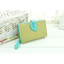 Fashion Women Wallet Retro leaf Purse Card Holder Hit Color Clutch Bag Purse New