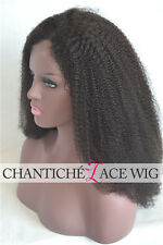 Black Women Afro Kinky Curly Full Lace Wigs Glueless Indian Remy Human Hair Wig