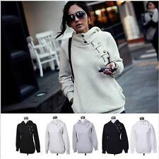 New Korean Women Hooded Sweater Pullover Casual Coat Blouse Tops Jacket