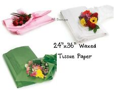 """FLORAL WAXED Tissue Paper Bouquet Wrapping 24""""x36"""" Large Sheets YOUR CHOICE!"""