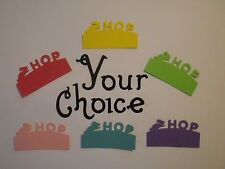 Your Choice Bunny Hop Paper Die Cut Punches Cake Toppers Confetti Embellishments