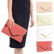 NEW STYLISH PATENT WEDDING WOMEN BAG PARTY PROM EVENING CLUTCH HAND BAG PURSE