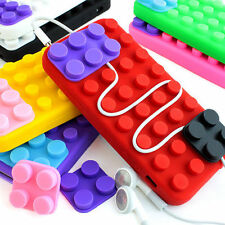 For Apple iPhone 4 4s Colorful Toy Blocks Silicone Rubber Gel Soft Case Cover
