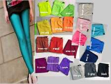 A082 new women's sexy neon opaque shiny spandex Stretch Leggings pants gift